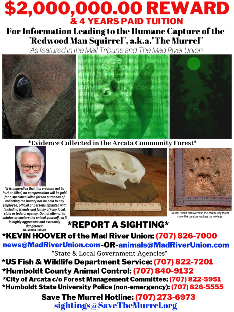 Save The Murrel $2,000,000 Reward Poster